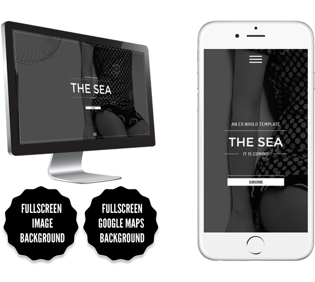 The Sea || Responsive Coming Soon Page